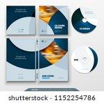 cd envelope  dvd case design.... | Shutterstock .eps vector #1152254786