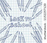 hand drawn vector doodle back... | Shutterstock .eps vector #1152257120