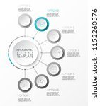 round infographic with business ... | Shutterstock .eps vector #1152260576