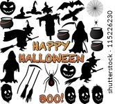 halloween silhouette isolated... | Shutterstock .eps vector #115226230