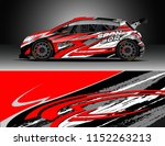 car decal design vector.... | Shutterstock .eps vector #1152263213