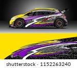 car decal design vector....   Shutterstock .eps vector #1152263240