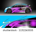 car decal design vector.... | Shutterstock .eps vector #1152263333