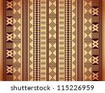 brown ethnic texture | Shutterstock .eps vector #115226959