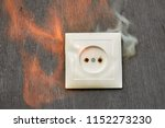 household fire  ignition of the ... | Shutterstock . vector #1152273230