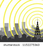tower icon illustration | Shutterstock .eps vector #1152275363