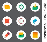 set of management icons flat... | Shutterstock .eps vector #1152278900