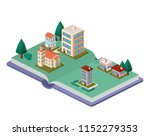 building and trees isometric... | Shutterstock .eps vector #1152279353