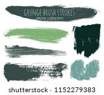 paint lines grunge collection.... | Shutterstock .eps vector #1152279383