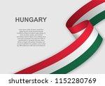 waving flag of hungary.... | Shutterstock .eps vector #1152280769