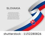 waving flag of slovakia.... | Shutterstock .eps vector #1152280826