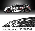 car decal design vector....   Shutterstock .eps vector #1152282569