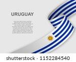 waving flag of uruguay.... | Shutterstock .eps vector #1152284540
