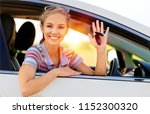 portrait of smiling young woman ... | Shutterstock . vector #1152300320