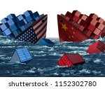 china united states trade... | Shutterstock . vector #1152302780