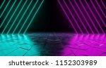 futuristic sci fi triangle... | Shutterstock . vector #1152303989