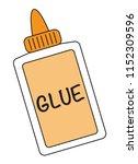 white school glue | Shutterstock . vector #1152309596