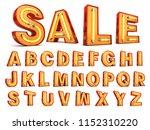 neon light alphabet 3d... | Shutterstock . vector #1152310220