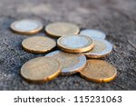 Euro Coin On Grey Background