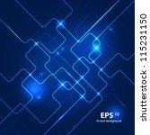 abstract hi tech blue... | Shutterstock .eps vector #115231150