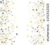 gold and silver stars confetti... | Shutterstock .eps vector #1152312323