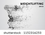 strong man powerlifting. the... | Shutterstock .eps vector #1152316253