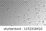 rain drops on transparent... | Shutterstock .eps vector #1152318410