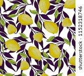 watercolor seamless pattern... | Shutterstock . vector #1152318746
