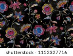 seamless flowers pattern with... | Shutterstock . vector #1152327716