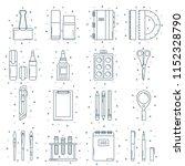 set of school or office stuff... | Shutterstock .eps vector #1152328790