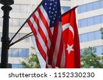 turkish and american national... | Shutterstock . vector #1152330230