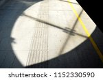 tactile paving and yellow... | Shutterstock . vector #1152330590
