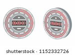 led clock colored. without... | Shutterstock .eps vector #1152332726
