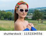 portrait of a beautiful young... | Shutterstock . vector #1152334556