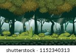 fairy forest. bright forest... | Shutterstock .eps vector #1152340313