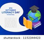 literacy day book international ... | Shutterstock .eps vector #1152344423