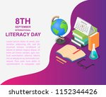 literacy day book science... | Shutterstock .eps vector #1152344426