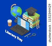 literacy day book international ... | Shutterstock .eps vector #1152344429