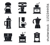 coffee maker pot espresso cafe... | Shutterstock .eps vector #1152344456