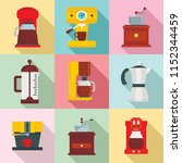 coffee maker pot espresso cafe... | Shutterstock .eps vector #1152344459