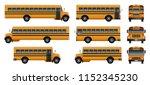 school bus back kids icons set. ... | Shutterstock .eps vector #1152345230
