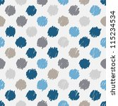 seamless pattern  stylish polka ... | Shutterstock .eps vector #115234534