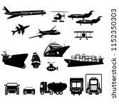set of transportation flat... | Shutterstock .eps vector #1152350303