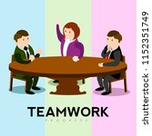 abstract teamwork concept image | Shutterstock .eps vector #1152351749