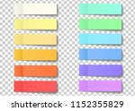 post note sticky stickers with... | Shutterstock . vector #1152355829
