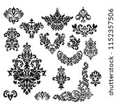 set of vintage baroque ornament ... | Shutterstock .eps vector #1152357506