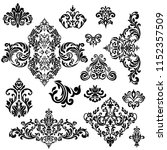 set of vintage baroque ornament ...   Shutterstock .eps vector #1152357509