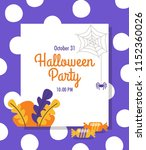 invitation card  banner or... | Shutterstock .eps vector #1152360026