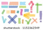set of accept or yes  cross and ... | Shutterstock .eps vector #1152362549