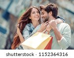 portrait of a couple with... | Shutterstock . vector #1152364316